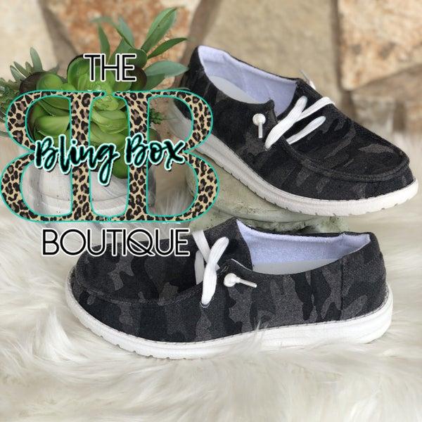 Heather Camo Gray Gypsy Jazz Shoe