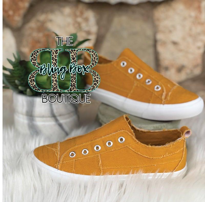 Babalu Mustard Slip on Sneaker