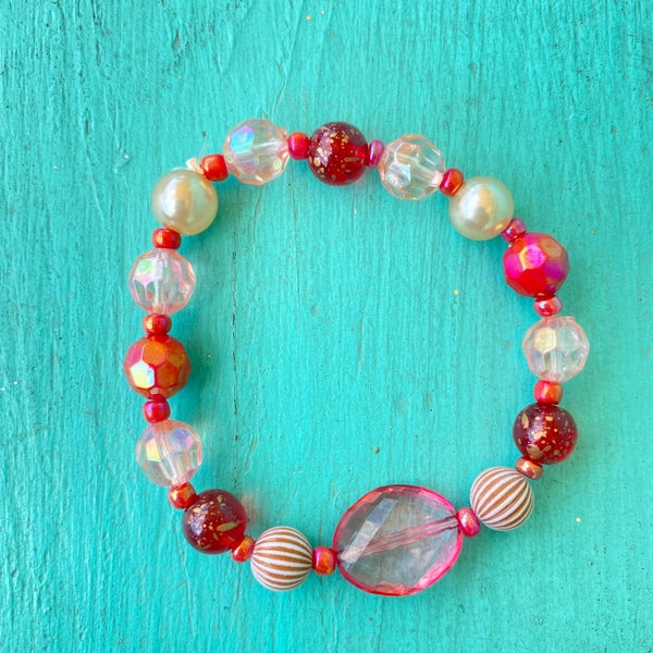 Bonnie Angela Pink Crystal Stretch Bracelet #2