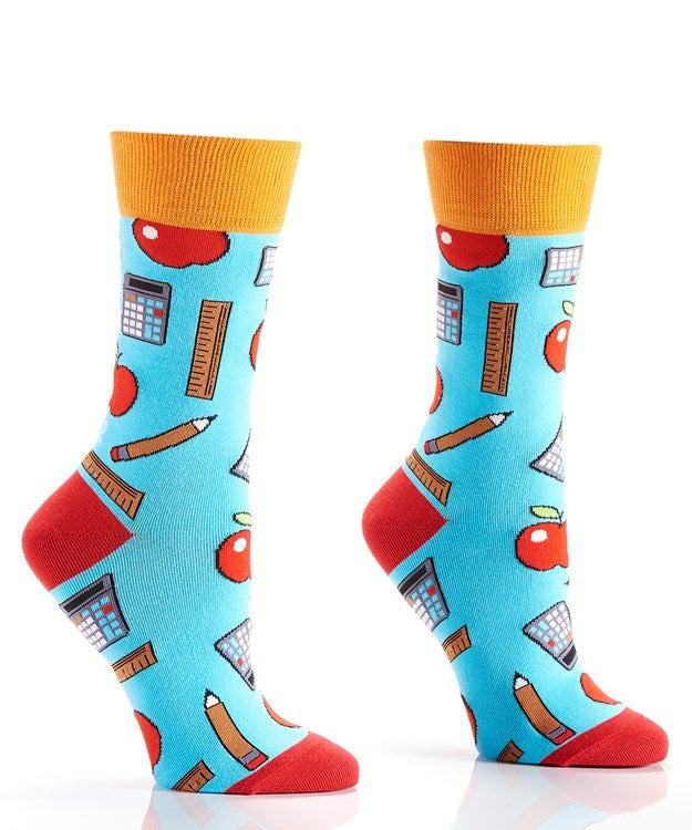 Teacher Apple Crazy Socks