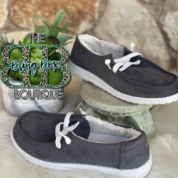Gypsy Jazz Harley Grey Suede Shoe