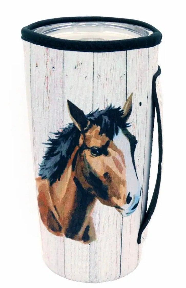 Horse Print Tumbler Drink Sleeve/Cooler