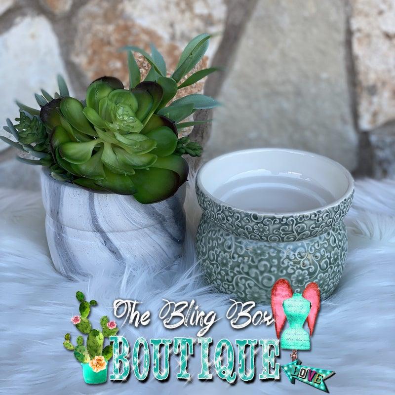 Swan Creek Sage Floral Wax Melter Set