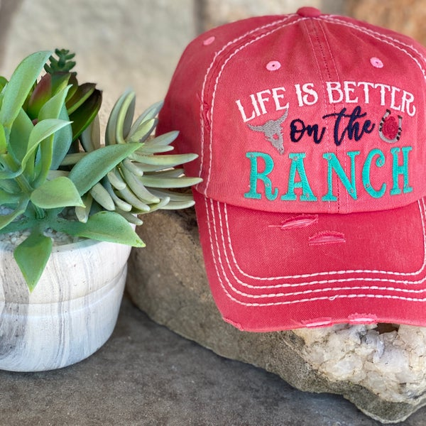 Coral Life is Better on The Ranch Hat