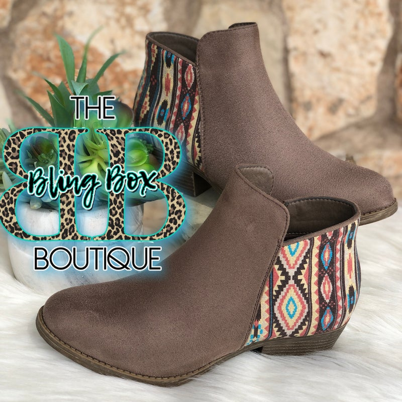 Corkys Prevail Aztec Taupe Booties