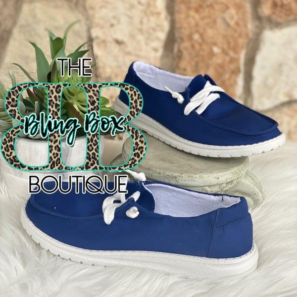 Blue Game Day Gypsy Jazz Shoe