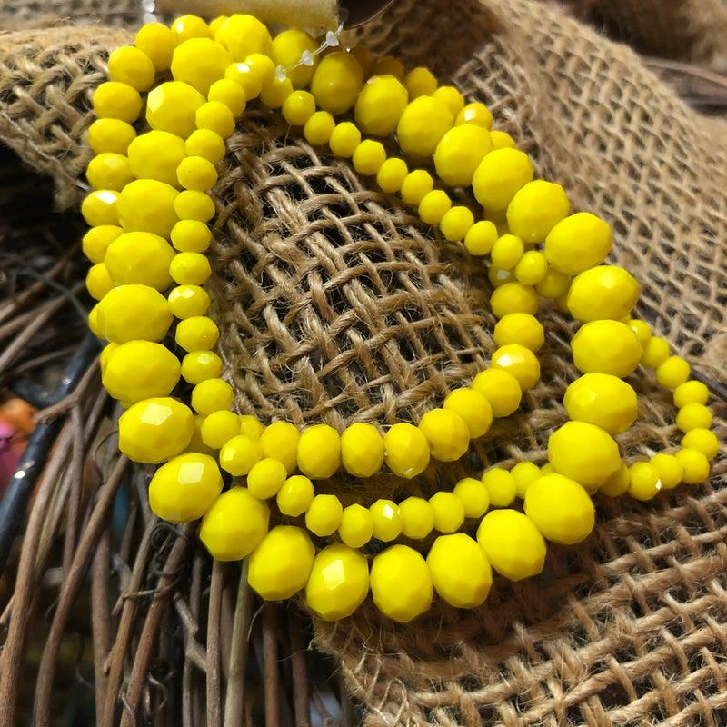 Yellow 3-Piece Stretch Bracelet Set