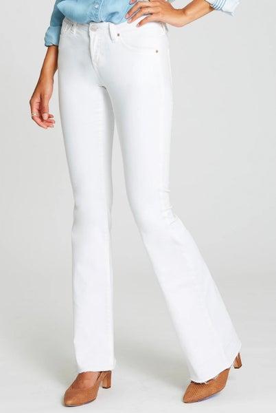 Rosie Flare Optic White Jeans