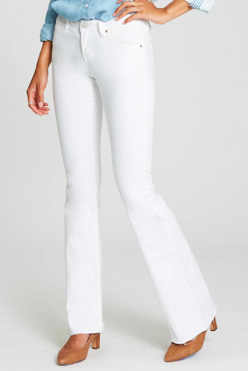 Rosie Flare Optic White Jeans