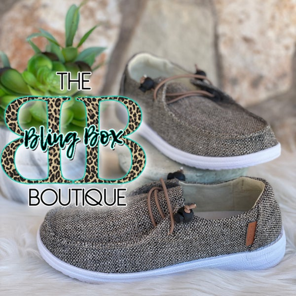 Corkys Kayak Brown Tweed Slip On Tennis Shoes