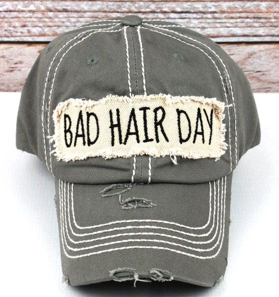 Grey Bad Hair Day Cap
