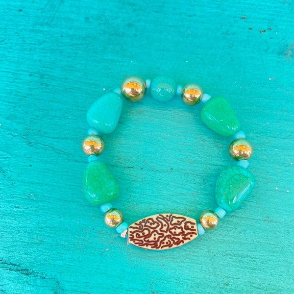Bonnie Angela Turquoise Stretch Bracelet #4