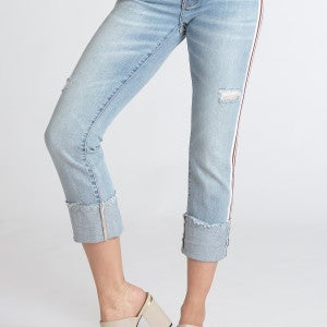 Finders Keepers Playback Cuffed Jeans SZ