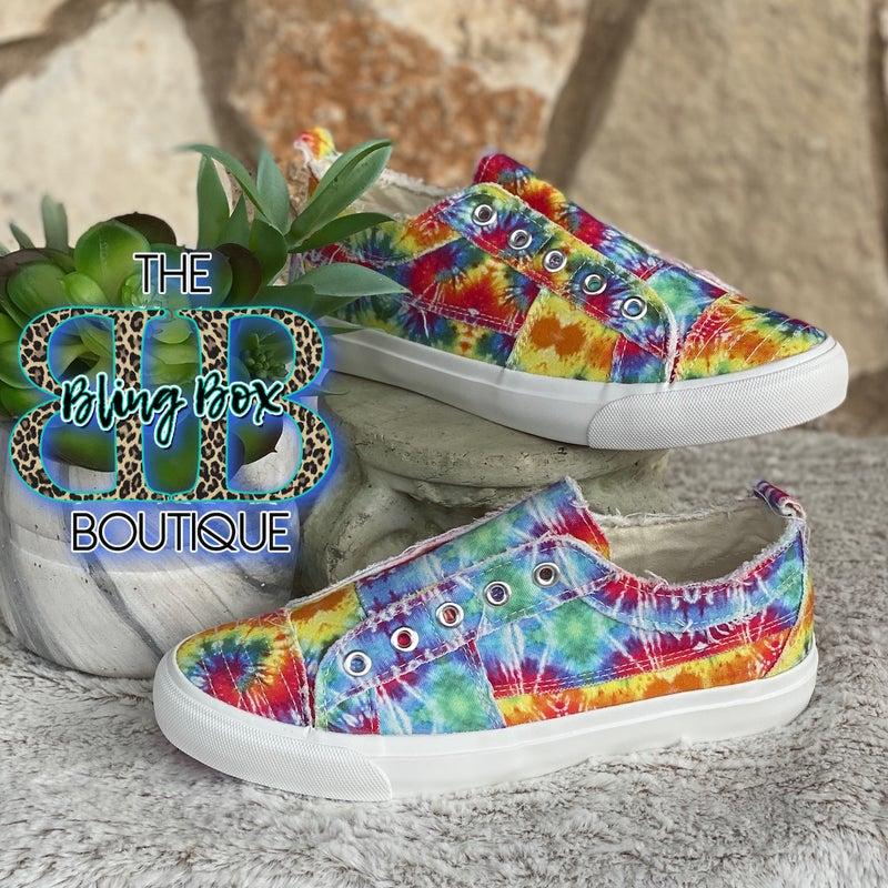 Corkys Babalu Slip On Sneaker - Rainbow Tie Dye