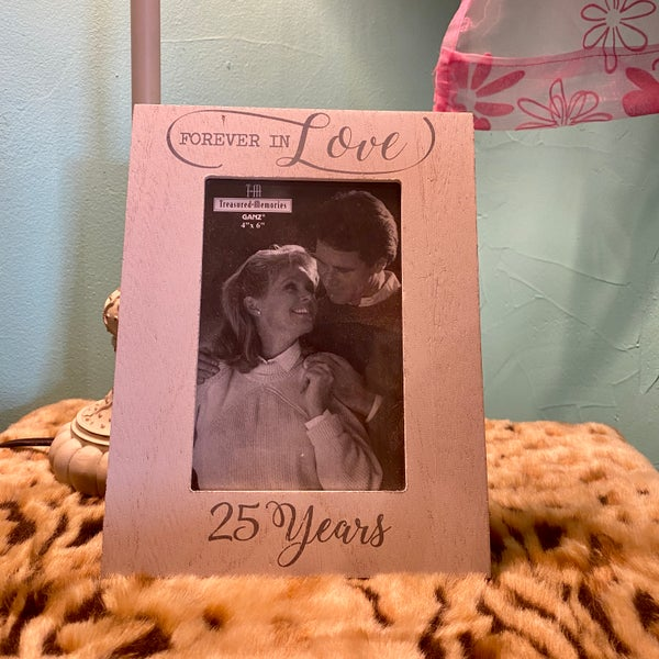 "Forever in Love 25 Years 4"" x 6"" Picture Frame"