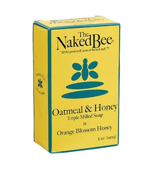 5 Oz The Naked Bee Orange Blossom Honey Oatmeal and Honey Triple Milled  Bar of Soap