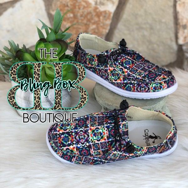 Corkys Kayak Mosaic Slip On Tennis Shoes
