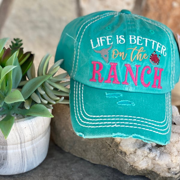 Turquoise Life is Better on The Ranch Hat