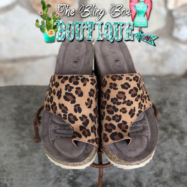 Leopard Print Benton Wedge Sandal SIZE