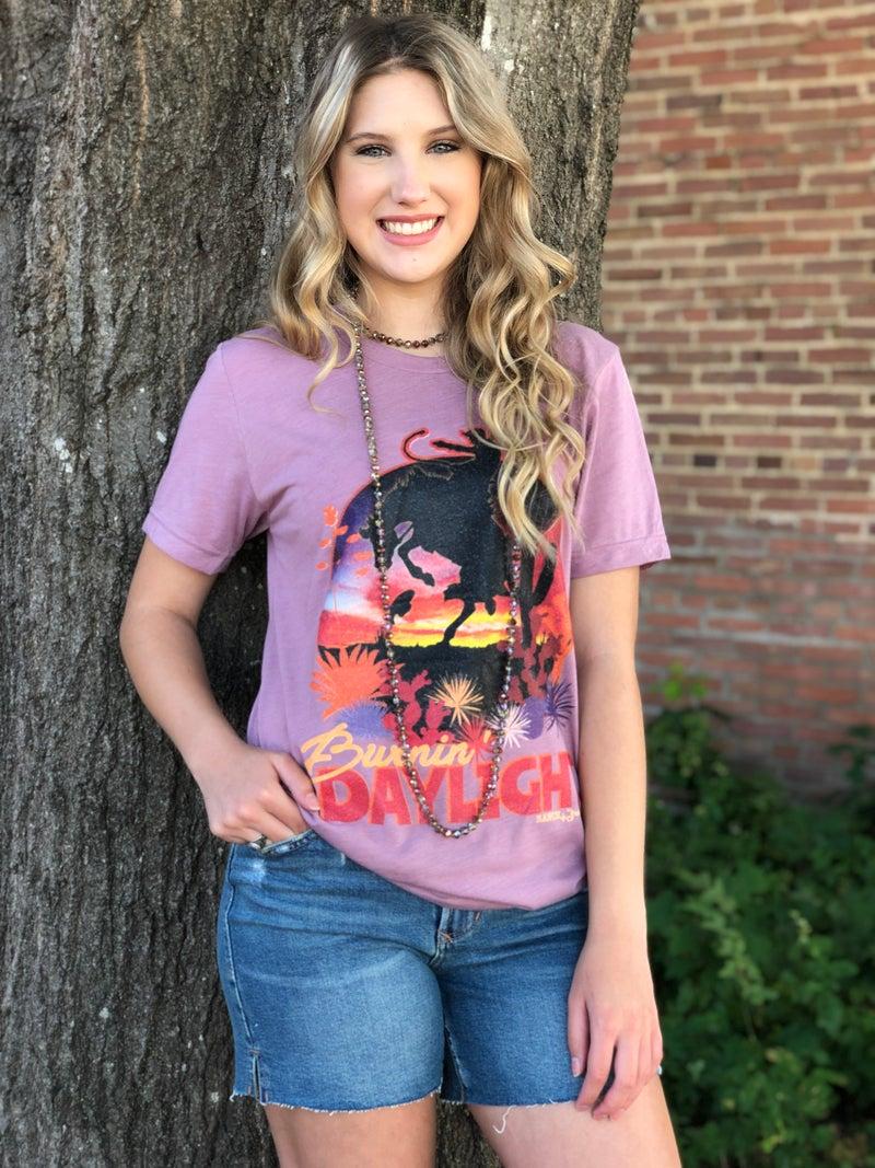 Burnin Daylight Bronco T-Shirt