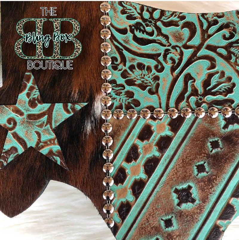 "15"" Texas Flag Stamped Leather Custom Wall Decor v3"