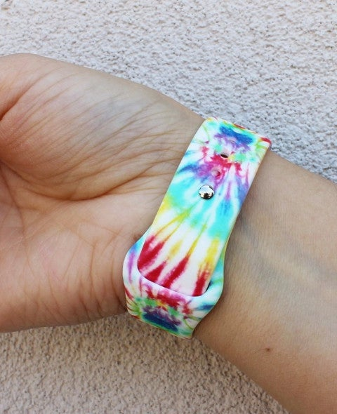 #3 Tie Dye Silicone Printed Band for Apple Watch 38 mm - 42 mm