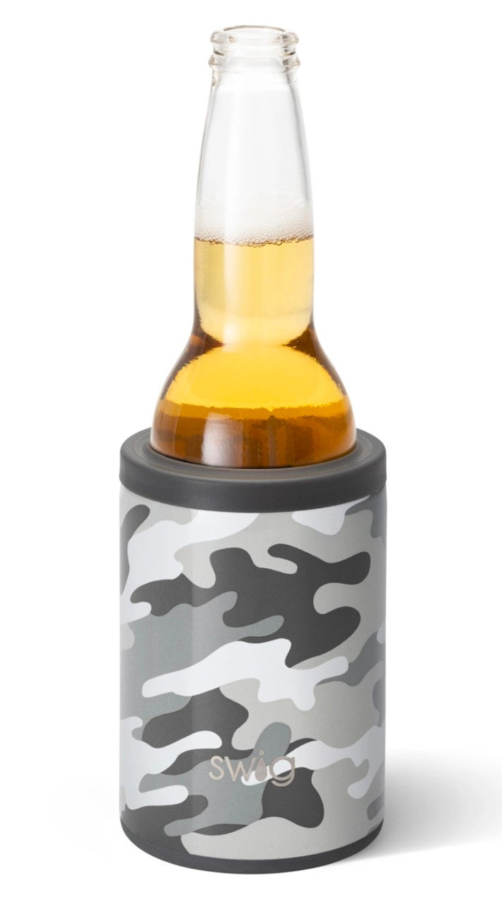 Swig Incognito Grey Camo 12 Oz Can & Bottle Cooler
