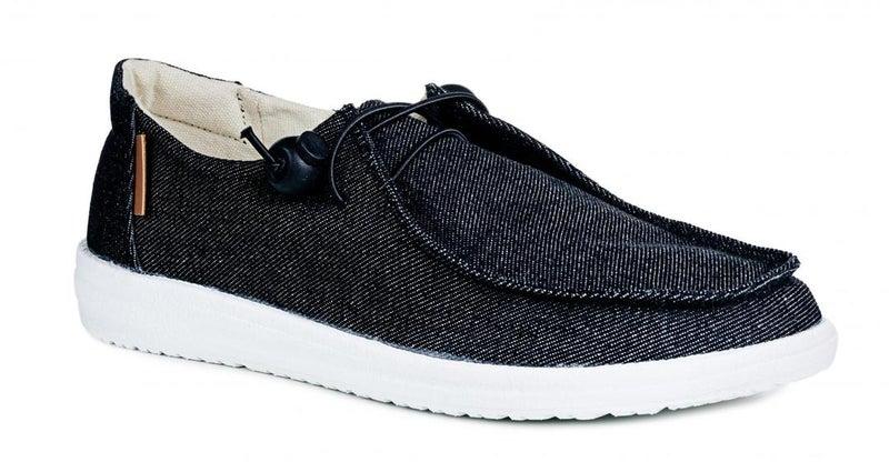 Corkys Kayak Black Slip On Tennis Shoes
