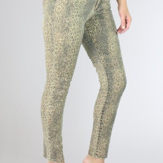 Gisele Ankle Skinnys Snow Leopard Jeans
