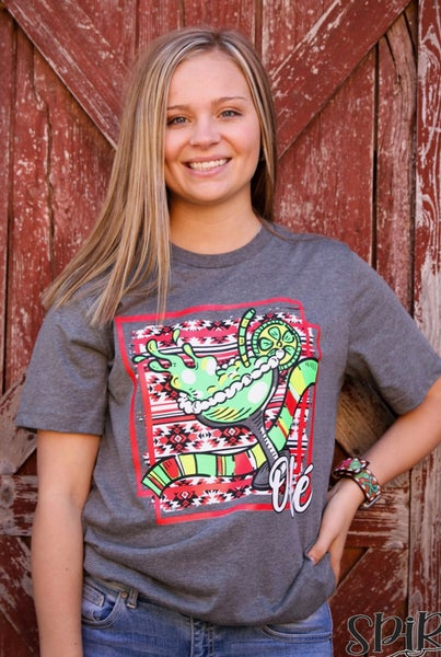 Ole' Margarita Aztec Charcoal T-Shirt