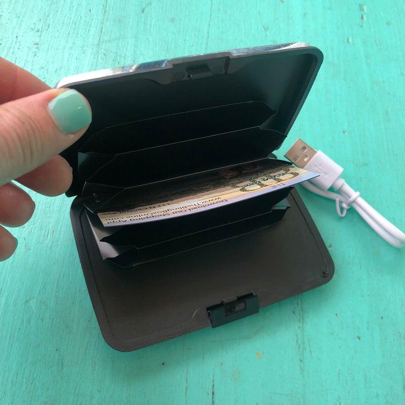 RFID Powerbank Wallet - Life is Good Marble
