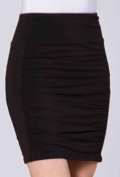 Black Scrunch Mini Skirt