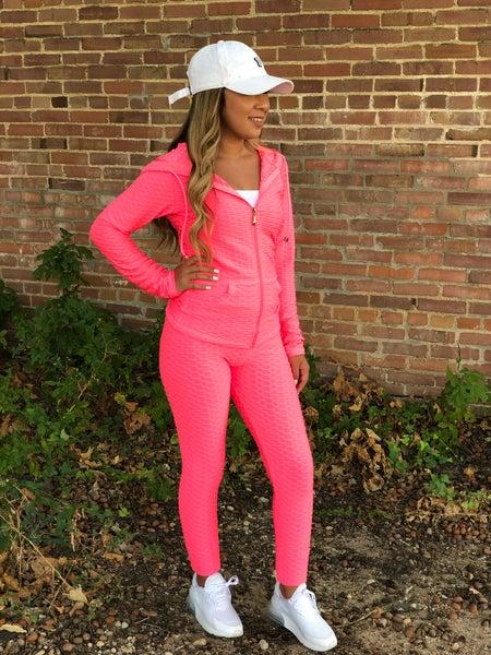 Hot Pink Brazilian Hoodie Set