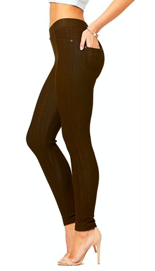Plus Size Chocolate Brown Jeggings