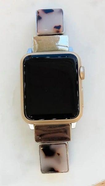 Acrylic Ivory Tortoise Shell Apple Watchband 38/40 mm