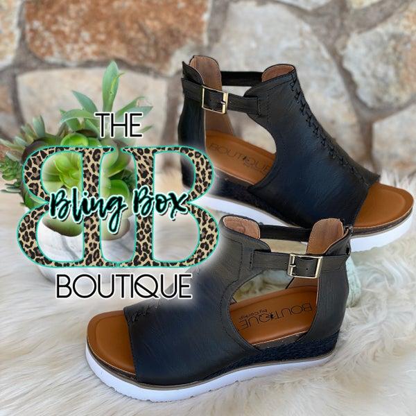 Corkys Sugar City Black Shoe