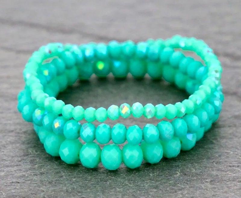 Mint 3-Piece Stretch Bracelet Set