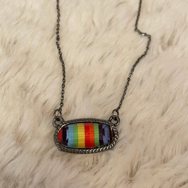 Small Serape Oval Necklace Set