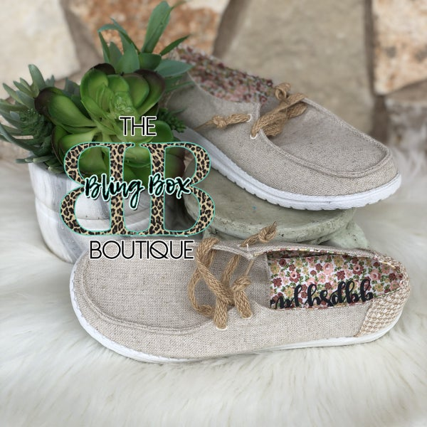 Gypsy Jazz Dolly Natural Canvas Sneakers