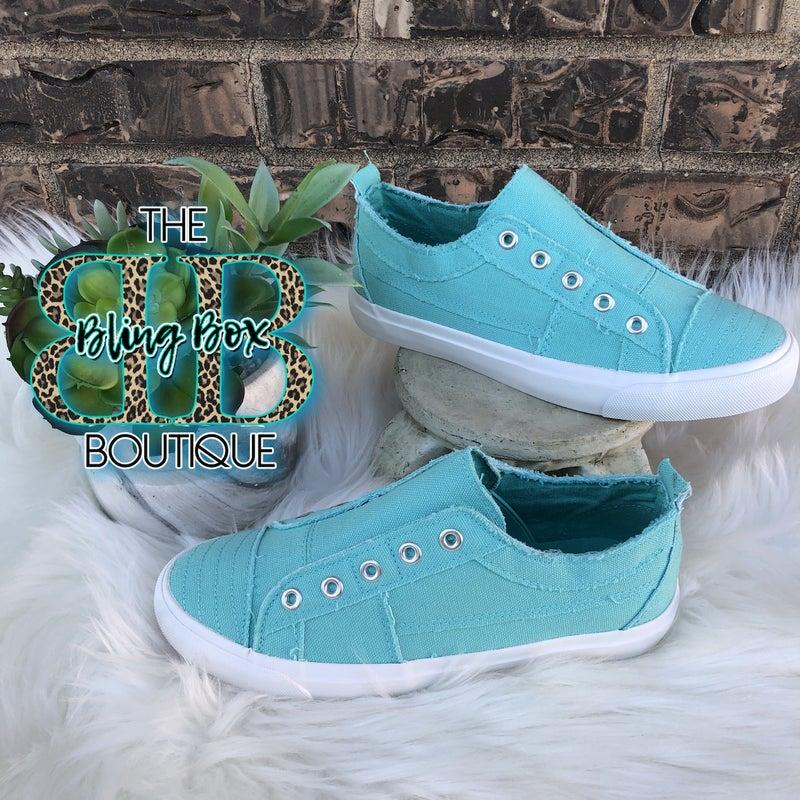 Corkys Babalu Slip On Sneaker - AQUA