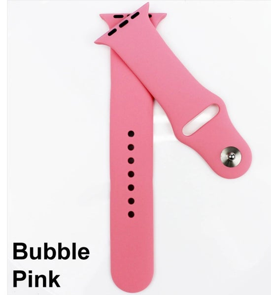 Bubble Pink Solid Silicone Bands for Apple Watch 38/40 mm