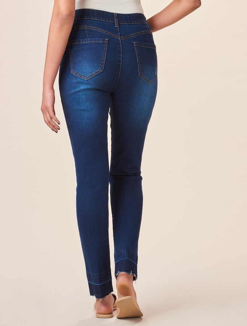 Charlie Paige Medium Blue Artisan Wash Shaping Denims