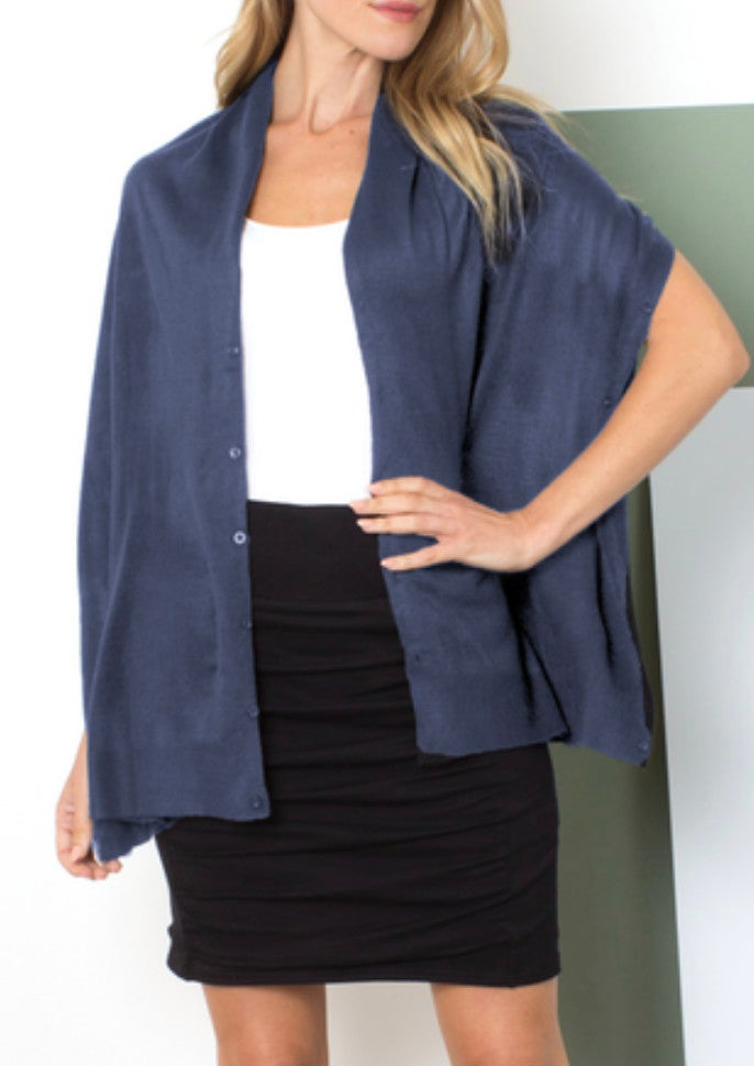 ONE SIZE - DENIM BLUE Bordeaux Wrap