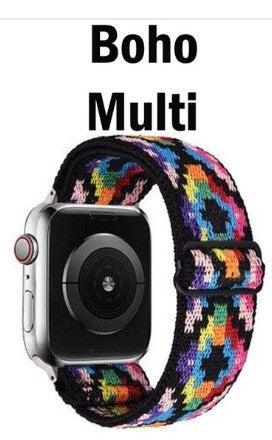 Boho Multi Southwest Print Stretch 38 mm Apple Watchband