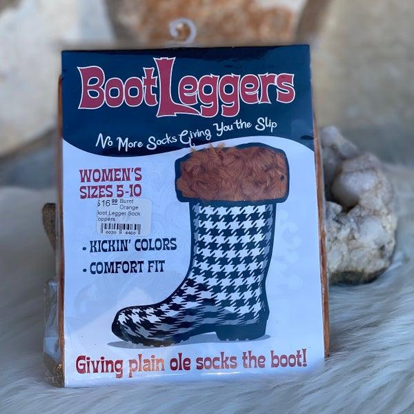 Burnt Orange Boot Legger Sock Toppers