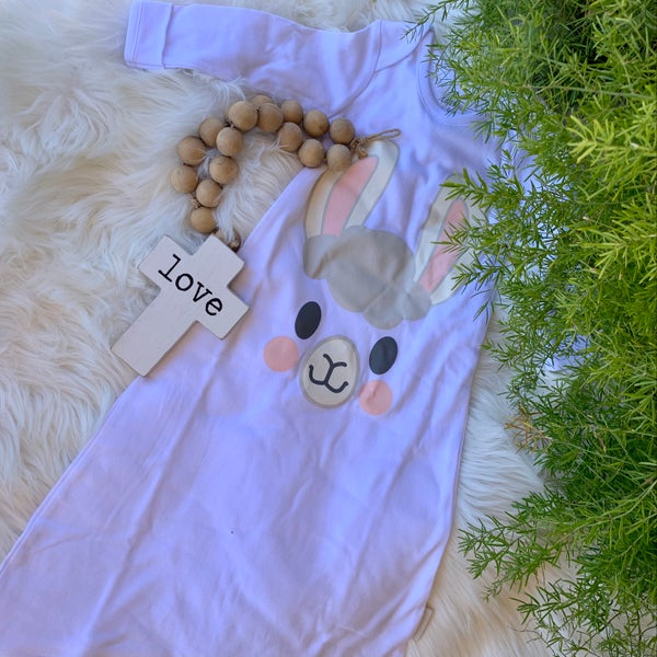 Lil'Llama Gown Gift Boxed 0-6 mos.
