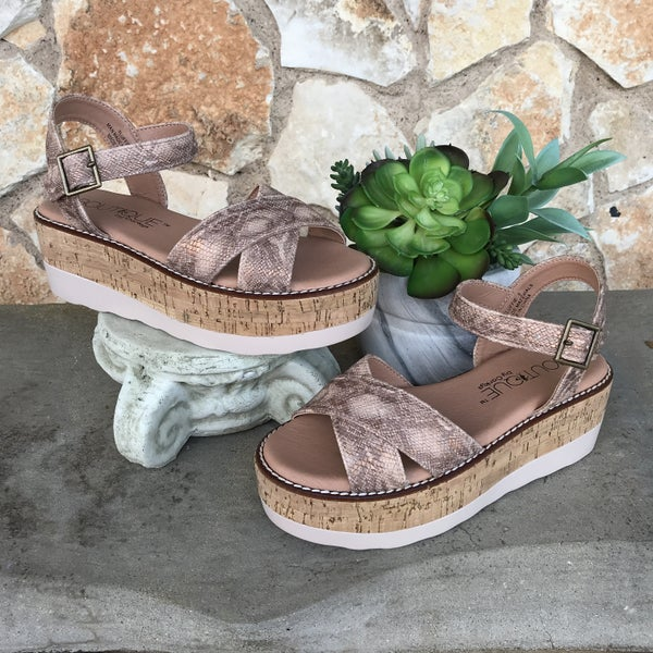 Fluffie Penny Wedge Sandal