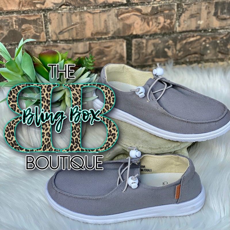 Corkys Kayak Grey Slip On Tennis Shoes