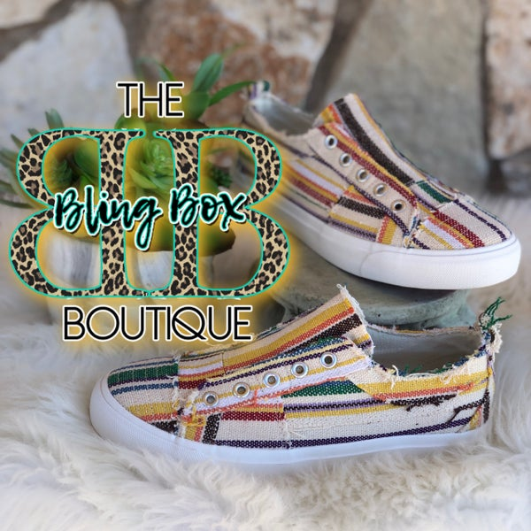 Corkys Babalu Slip On Sneaker - Multi Stripe Serape