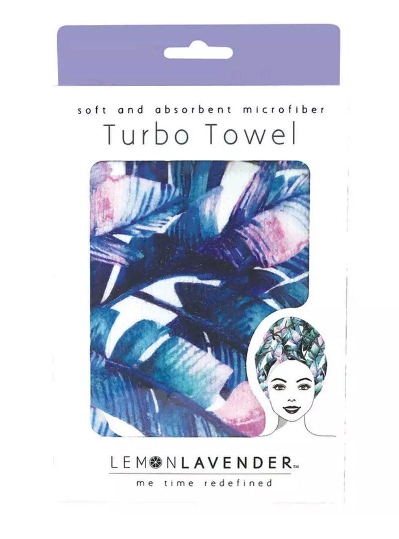 Pure Paradise Leaf Print Microfiber Turbo Towel